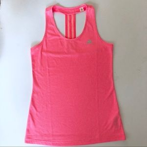 NEON pink Adidas climalite active running top S